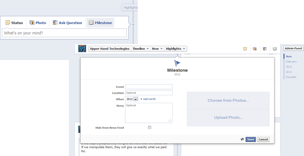 how to get new facebook timeline feature